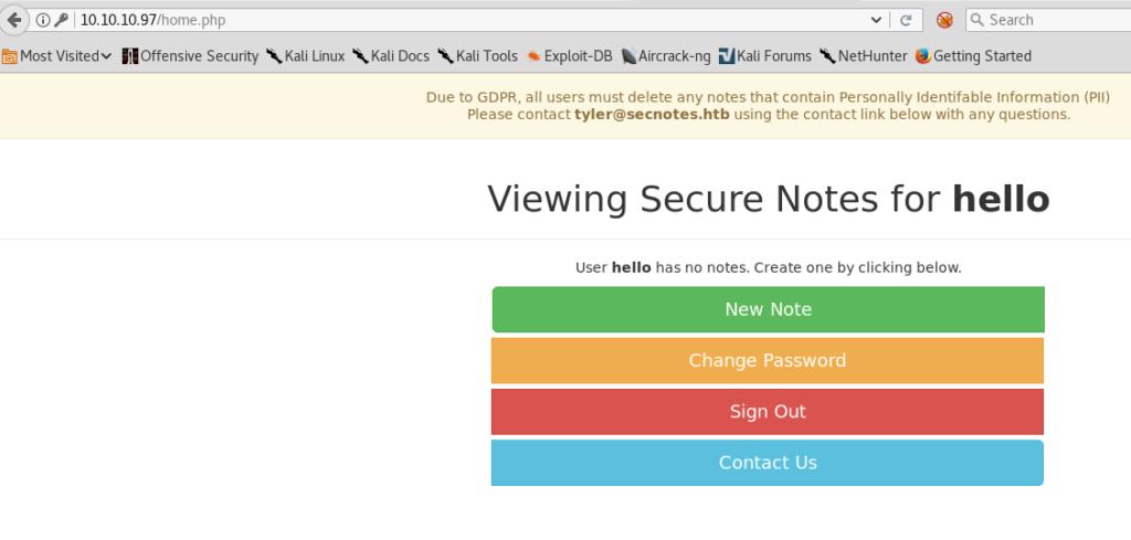 Hackthebox – SecNotes Writeup – Zinea InfoSec Blog